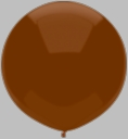"17"" Tuf Tex Brown Latex Balloons 72 Per Bag"