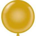 "17"" Tuf Tex Gold Latex Balloons 72 Per Bag"