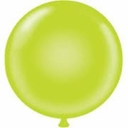 "17"" Tuf Tex Lime Latex Balloons 72 Per Bag"