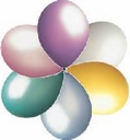 "17"" Tuf Tex Pastel Assortment Latex Balloons 72 Per Bag"
