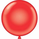 "Tuf-Tex Balloons 17"" Round Tuf Tex Red Latex Balloons 72 Per Bag"