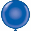 "17"" Tuf Tex Crystal Sapphire Blue Latex Balloons 72 Per Bag"