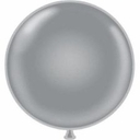 "17"" Tuf Tex Silver Latex Balloons 72 Per Bag"