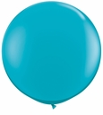 "17"" Tuf Tex Crystal Teal Latex Balloons 72 Per Bag"