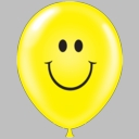 "17"" TUF TEX Latex Balloons Smiley Print 50ct"