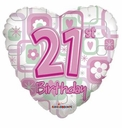 "18"" 21st Birthday Heart"