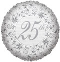 """18"""" 25th Foil Balloon SPECIAL PRICE"""