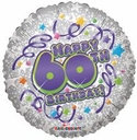 "18"" 60th Birthday  Special 1ct"