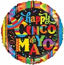 "18"" Cinco De Mayo Helium Foil Balloon 1 per pack"