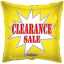 "18"" Clearance Square 1pk"
