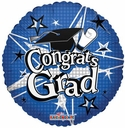 "18"" Congrats Grad Blue 1ct"