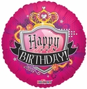 "18"" Happy Birthday Royalty Pattern SPECIAL CLOSEOUT 1 per pack"