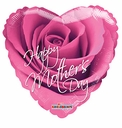 "18"" Happy Mother's Day Pink Rose Helium Foil Balloon 1 per pack"