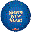 "18"" Happy New Year Blue Foil Balloon 1ct"