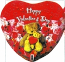 "18"" Happy Valentine Bear with Heart SPECIAL 1 per pack"
