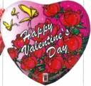 "18"" Happy Valentine Butterfly & Roses 1 per pack"