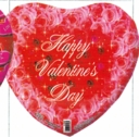 "18"" Happy Valentine Roses Helium Balloon 1 per pack"