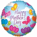 "18"" Happy Mother's Day Field Of Flowers Helium Foil Balloon 1 per pack"