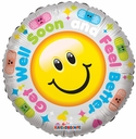 "18"" Hurry & Get Better Smile Helium Foil Balloon 1 Per Pack"