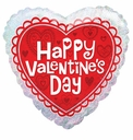 """18"""" Valentine's Day Lace 1ct"""
