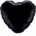 "18"" Metallic Black Heart 10pk"