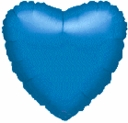 "18"" Metallic Blue Heart 1pk"