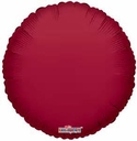 "18"" Metallic Burgundy Circle 10pk"