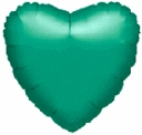 "18"" Metallic Green Heart 1pk"