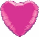 "18"" Metallic Hot Pink Heart 1pk"