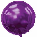 "18"" Metallic Purple Circle 10pk"