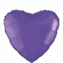 "18"" Metallic Purple Heart 1pk"