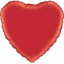 "18"" Metallic Red Heart 1pk"