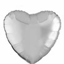 "18"" Metallic Silver Heart 1pk"