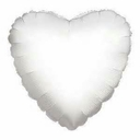 "18"" Metallic White Heart 1pk"