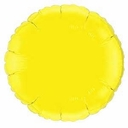 "18"" Metallic Yellow Round 10Pk"