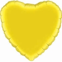 "18"" Metallic Yellow Heart 1pk"