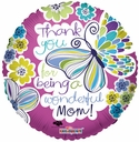 """18"""" Mother's Day Turquoise Butterfly 1pk"""