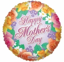 """18"""" Mother's Day Elegant Flowers Helium Foil Balloons 1ct"""