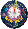 "18"" New Year Clock Foil Balloon 1ct"