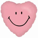 "18"" Pink Smiley Heart 1ct"