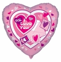 "18"" PS I Love You Heart Shape Helium Foil Balloon 1 Per Pack"