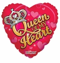 "18"" Queen Of My Heart Foil Balloon Special 1 per pack"