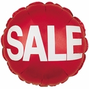 """Balloons with Sale Printed - 2 sides 18"""" Sale Foil Balloon 1ct"""