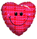 "18"" Smile Heart Helium Balloon 1 Per Pack"