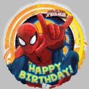 "18"" Spiderman Birthday Foil Balloon"