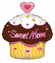 """18"""" Sweet Mom Cup Cake Helium Balloons 1ct"""