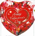 "18"" Valentine's Day Hearts & Roses Foil Balloon 1 per pack"