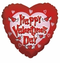 """18""""Valentine's Flying Hearts 1ct"""