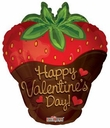 "18"" Valentine's Strawberry Shape 10pk"