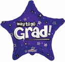 "18"" Way to go Grad Purple Stars 10pk"